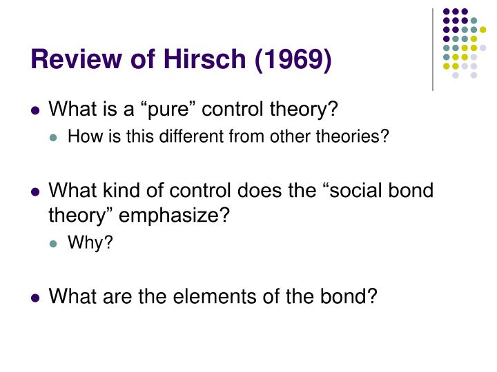 Review of hirsch 1969