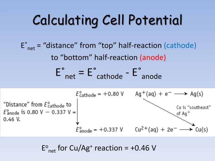 Calculating Cell Potential