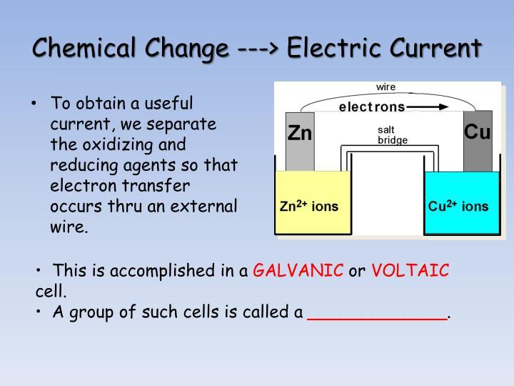 Chemical Change --->