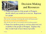 decision making and resources19
