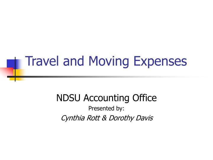 travel and moving expenses n.
