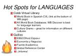 hot spots for languages