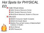 hot spots for physical ed