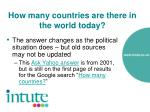 how many countries are there in the world today12
