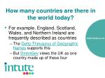 how many countries are there in the world today5