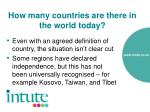 how many countries are there in the world today8