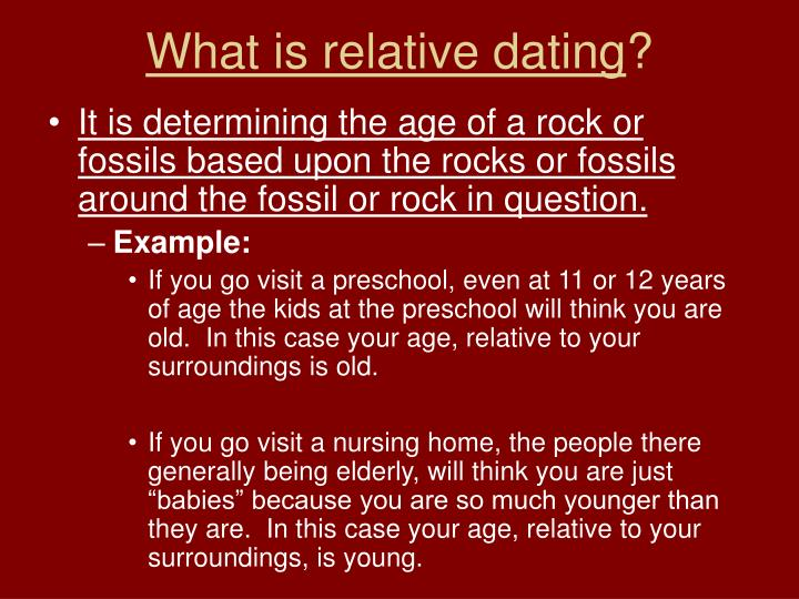 What does relative dating tell you
