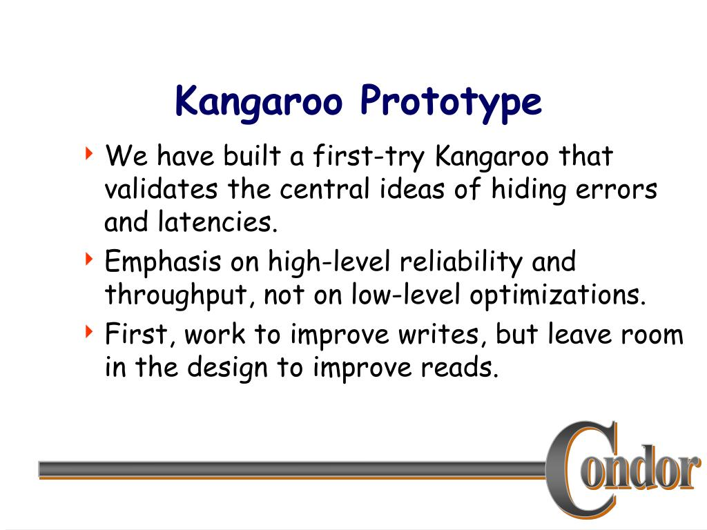 Kangaroo Prototype