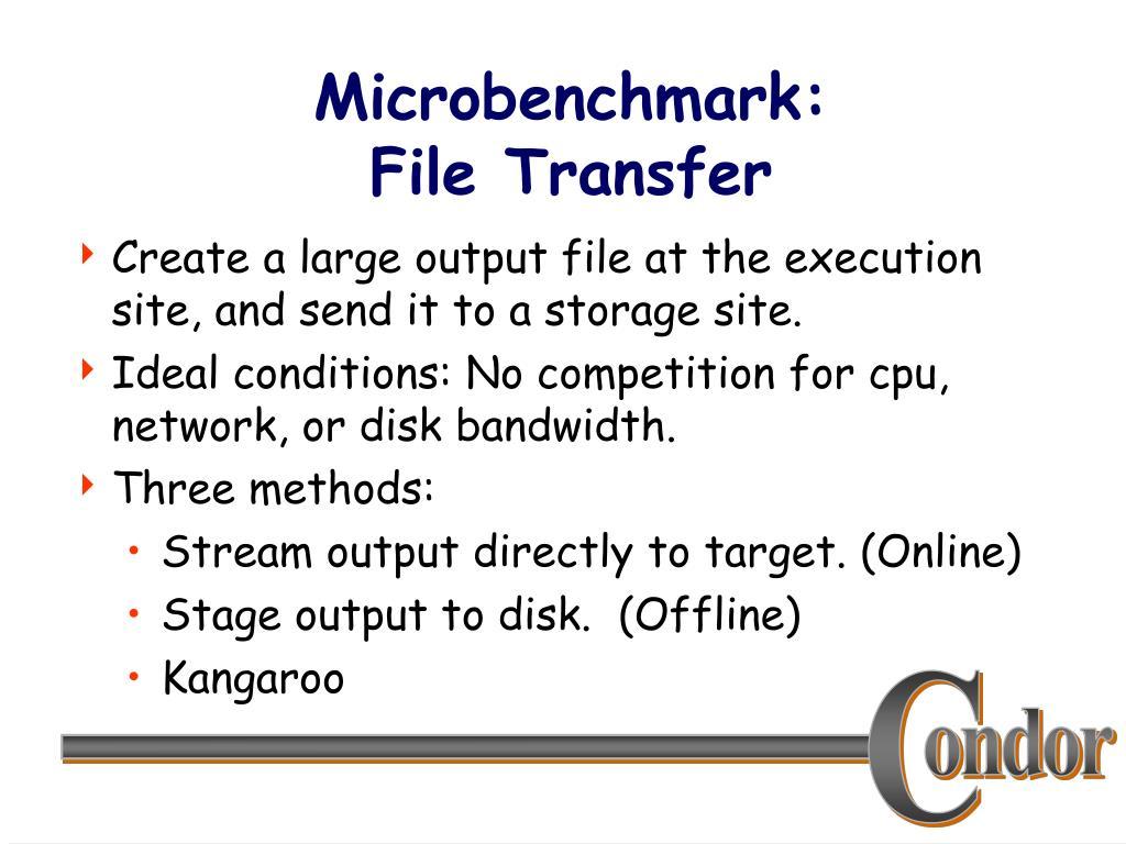 Microbenchmark: