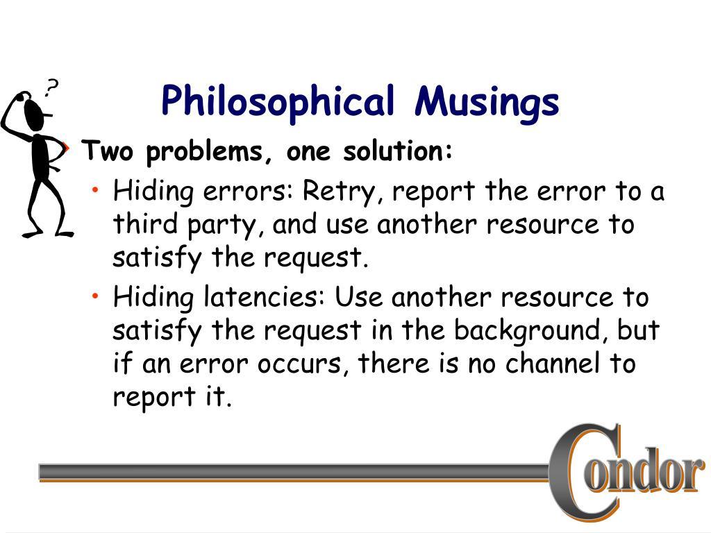 Philosophical Musings