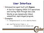 user interface20
