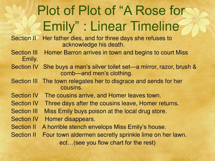 the story of emily in faulkners a rose for emily A rose for emily-an interpretation of the symbolism in  in his short story,  a rose for emily, faulkner uses  of the symbolism in william faulkner's.