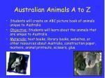 australian animals a to z