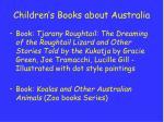 children s books about australia