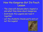 how the kangaroo got its pouch lesson