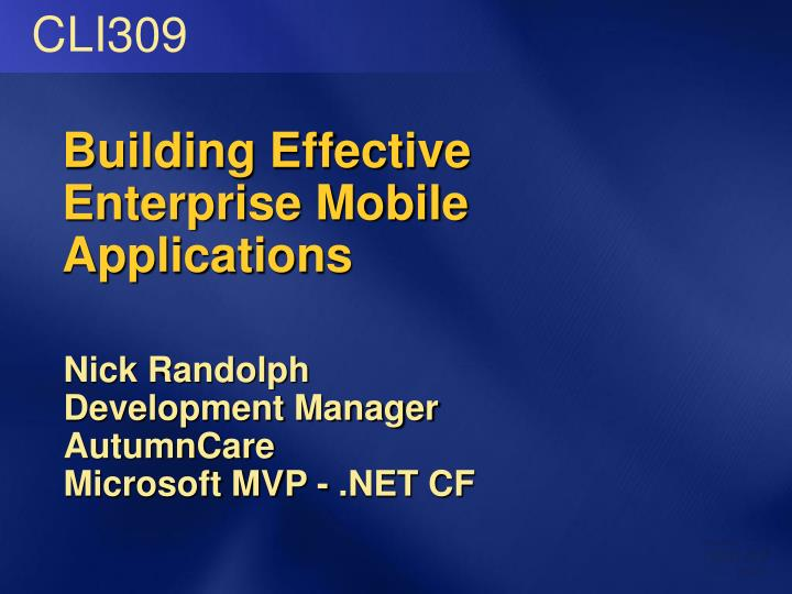 building effective enterprise mobile applications n.