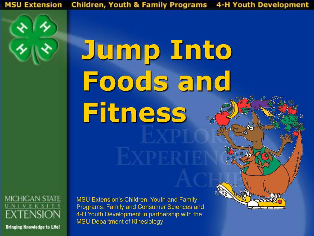 jump into foods and fitness l.