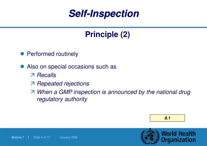 Self-Inspection