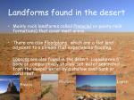 landforms found in the desert