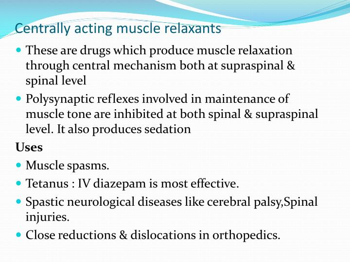 Non-sedating muscle relaxant