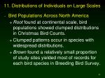 11 distributions of individuals on large scales