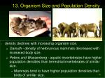 13 organism size and population density