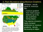 5 plant abundance along moisture gradients