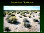 desert shrub distribution
