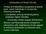 distributions of desert shrubs