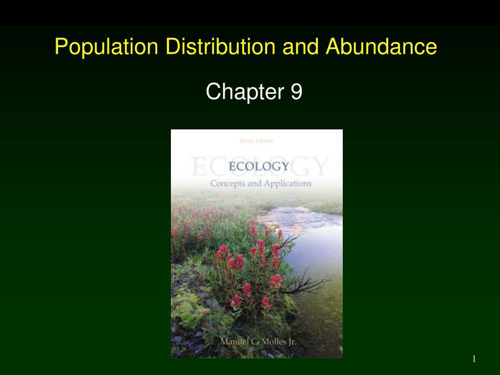 population distribution and abundance l.
