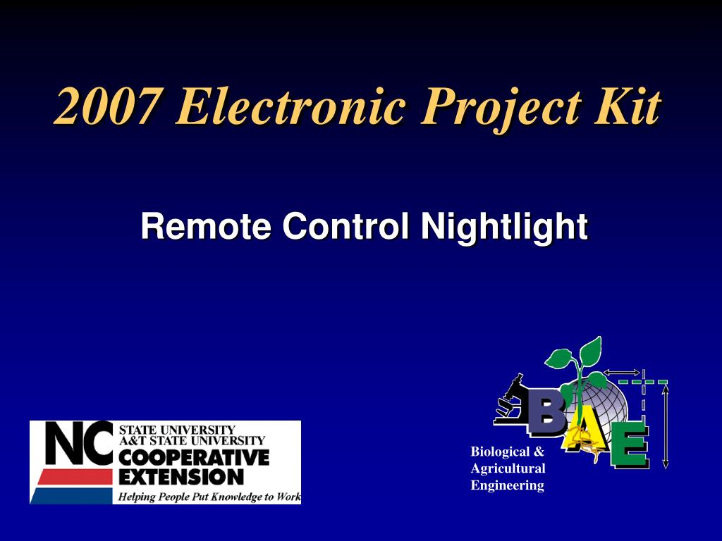 2007 electronic project kit l.