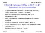 interest group on ban in 802 15 2 conclusions on low data rate applications