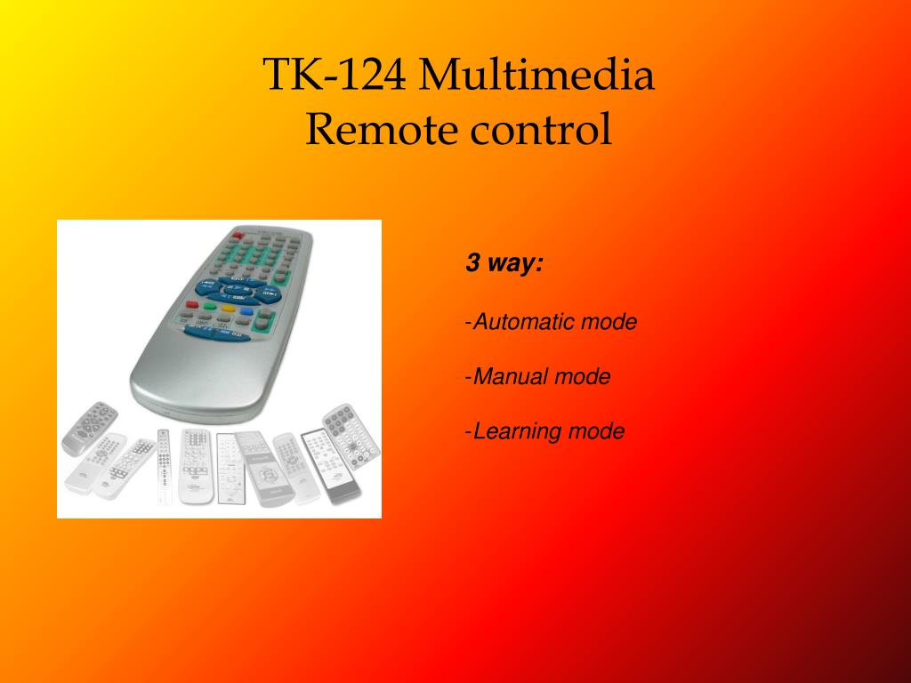 TK-124 Multimedia Remote control