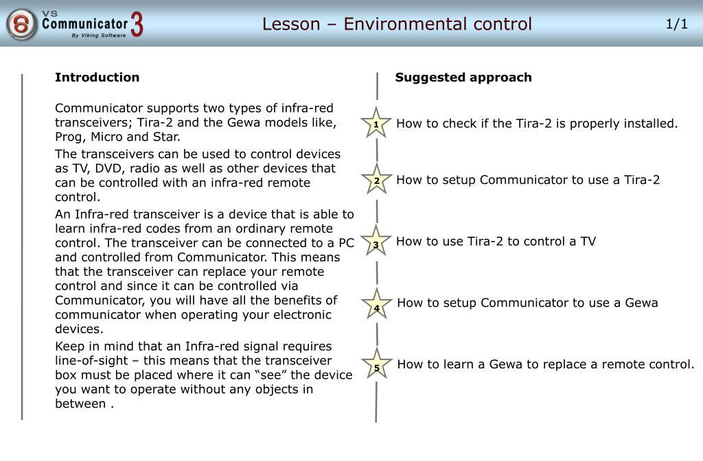 lesson environmental control l.
