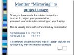 monitor mirroring to project image