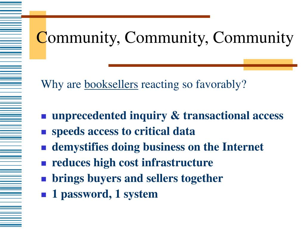 Community, Community, Community