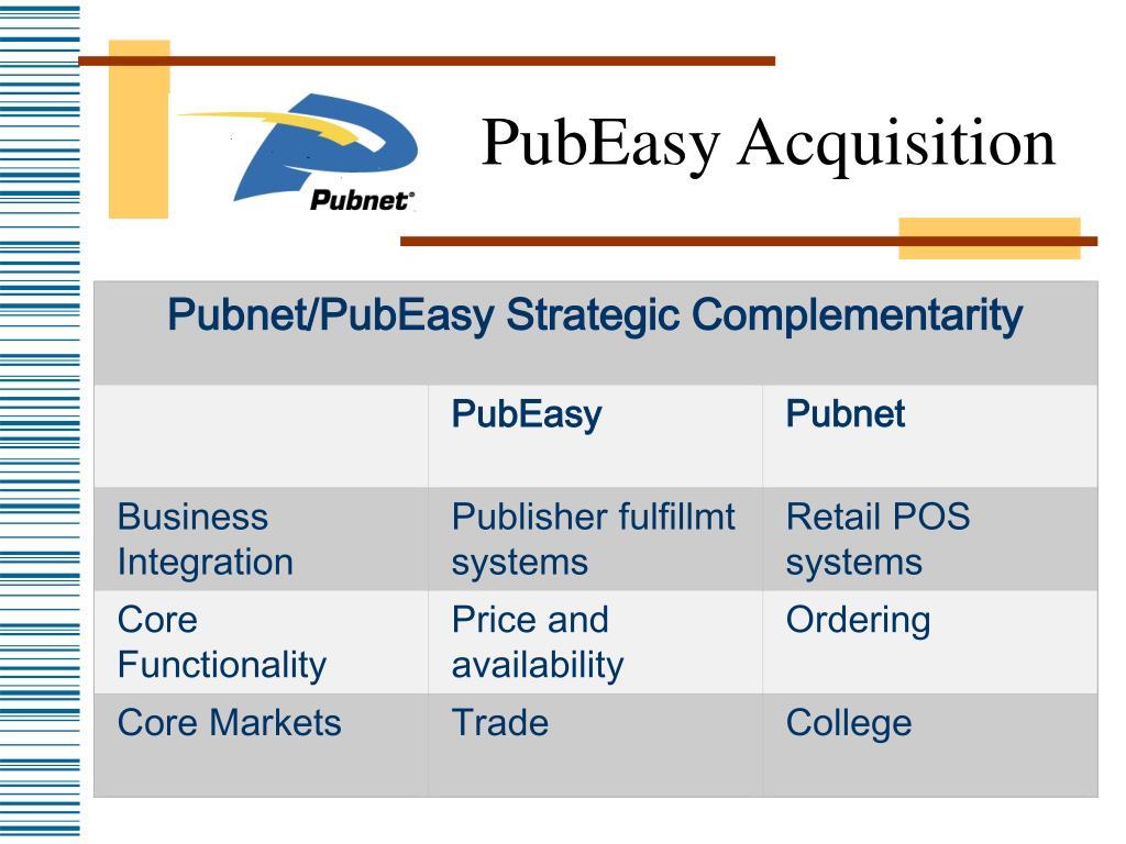 Pubnet/PubEasy Strategic Complementarity