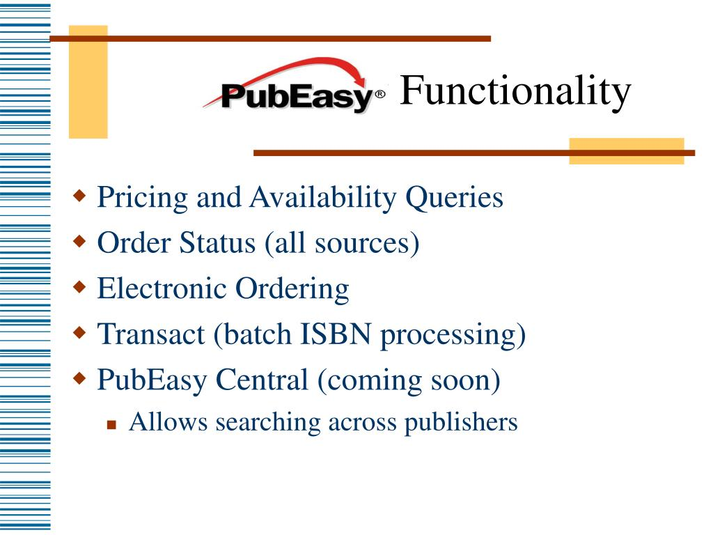 Pubeasy Functionality