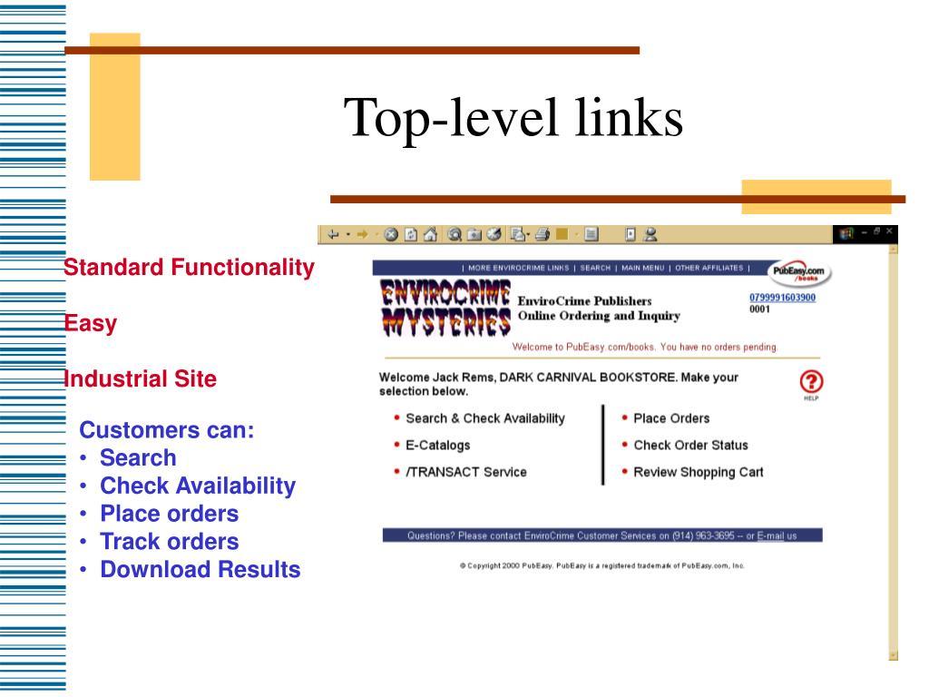 Top-level links