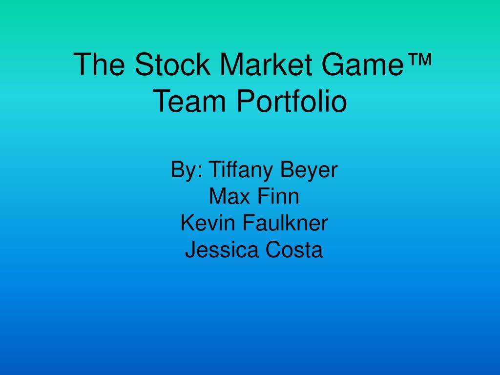 the stock market game team portfolio l.