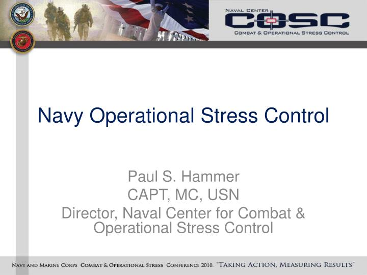 navy operational stress control n.