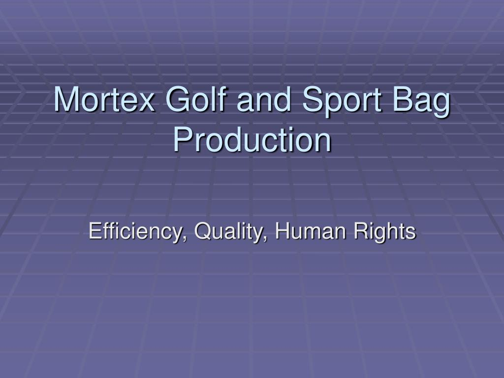 mortex golf and sport bag production l.