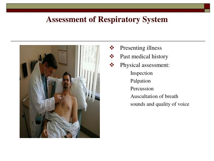 Assessment of respiratory system