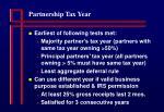 partnership tax year