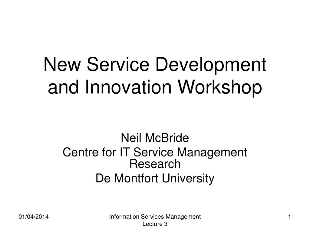 new service development and innovation workshop l.