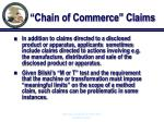 chain of commerce claims