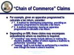 chain of commerce claims22