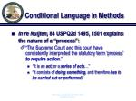 conditional language in methods