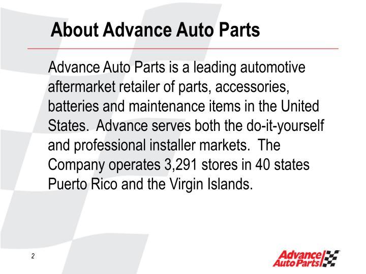 About advance auto parts