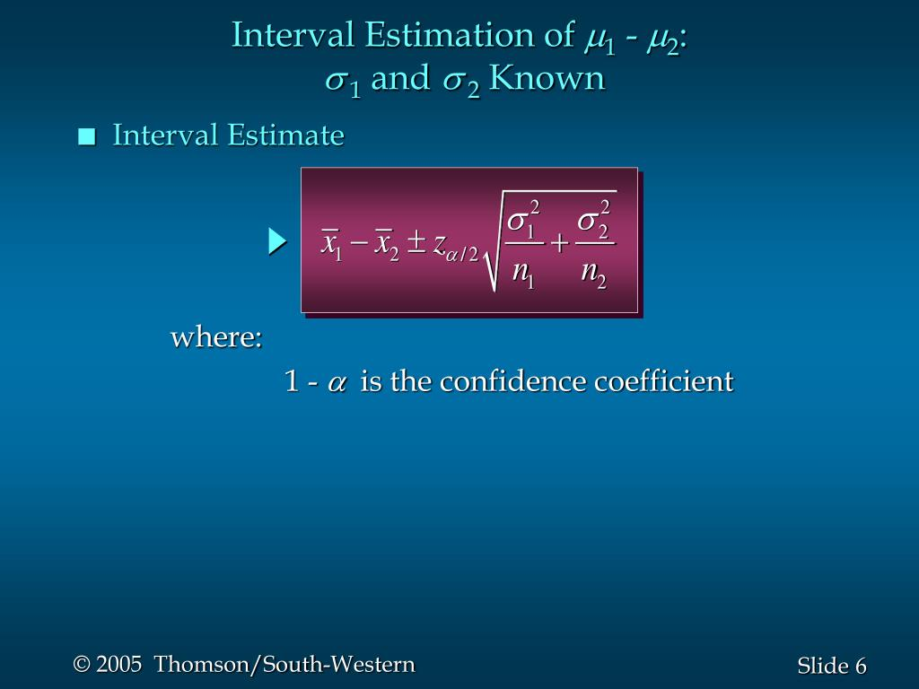 Interval Estimation of